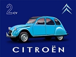 Citroen 2CV Vintage Metal Sign
