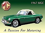 1967 MGC Car Vintage Tin Sign
