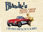 Blondie's Auto Shop Vintage Metal Sign