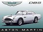 Aston Martin DB5 Vintage Metal Sign