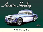 1956 Austin Healey 100-Six Vintage Tin Sign
