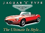 Jaguar 'E' Type Vintage Tin Sign