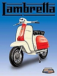 Lambretta Scooter Vintage Tin Sign