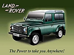 Land Rover Power Vintage Tin Sign