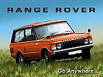 Range Rover Go Anywhere Vintage Tin Sign