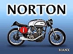 Norton Motorcycle Vintage Tin Sign