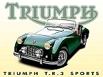 Triumph T.R.3 Sports Car Vintage Tin Sign