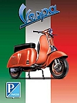 Vespa Scooter Vintage Tin Sign