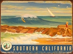 Surf Southern California Vintage Metal Sign