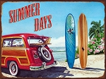 Summer Days Vintage Metal Sign