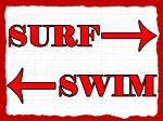 Surf Swim Vintage Metal Sign