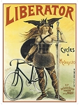 Liberator Cycles & Motorcycles Vintage Metal Sign