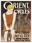 Orient Cycles Vintage Metal Sign