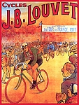 Cycles J.B. Louvet Vintage Tin Sign