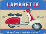 Lambretta Vintage Metal Sign
