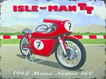 Norton Manx 500cc Vintage Metal Sign