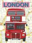 London Bus Vintage Metal Sign