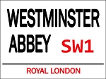 Westminster Abbey Vintage Metal Sign