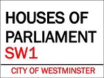Houses of Parliament Vintage Metal Sign