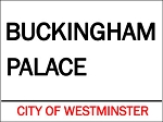 Buckingham Palace Vintage Metal Sign