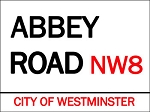 Abbey Road Vintage Metal Sign