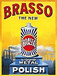 Brasso Liquid Metal Polish Vintage Tin Sign