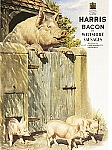 Harris Bacon and Wiltshire Sausages Vintage Tin Sign