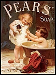 Pears Soap Children Vintage Tin Sign