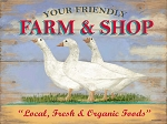 Farm & Shop Vintage Metal Sign