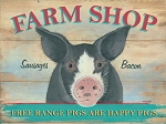 Farm Shop Vintage Metal Sign