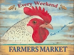 Farmer's Market Vintage Metal Sign