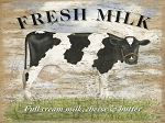 Fresh Milk Vintage Metal Sign