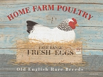 Home Farm Poultry Vintage Metal Sign