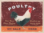 Poultry On Sale Vintage Metal Sign