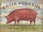 Prize Porker Vintage Metal Sign