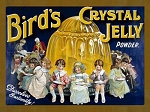 Bird's Jelly Powder Vintage Metal Sign