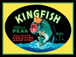 Kingfish Peas Vintage Metal Sign