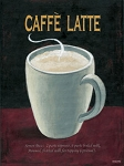Caffe Latte Vintage Metal Sign