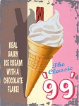 Classic '99' Ice Cream Vintage Metal Sign