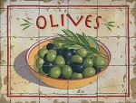 Olives Vintage Metal Sign
