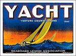 Yacht Lemons Vintage Metal Sign