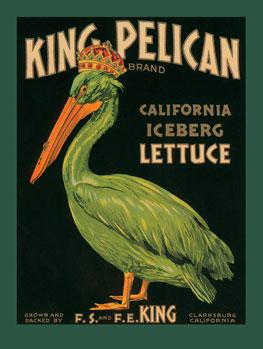 King Pelican California Iceberg Lettuce Tin Sign