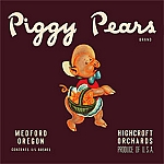 Piggy Pears Brand Vintage Tin Sign