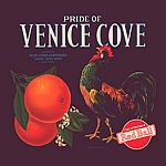 Pride of Venice Cove Oranges Vintage Tin Sign