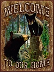 Welcome to Our Home Vintage Metal Sign