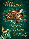 Welcome Deerest Friends Vintage Metal Sign