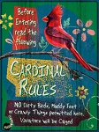 Cardinal Rules Vintage Metal Sign