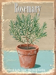Rosemary Vintage Metal Sign