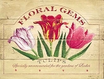 Floral Gems Vintage Metal Sign