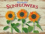 Sunflowers Vintage Metal Sign